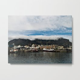 Table Mountain Cape Town Harbor, South Africa Metal Print