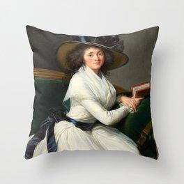 Elisabeth Louise Vigée Le Brun - Comtesse de la Châtre Throw Pillow