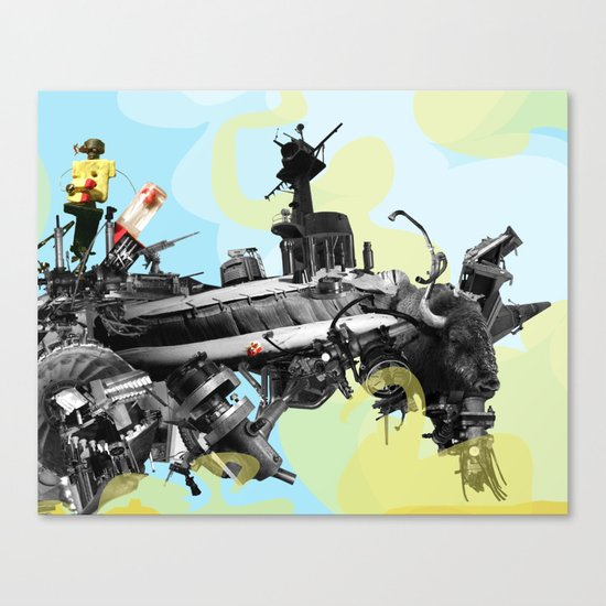 Building a Better Buffalo: Two Canvas Print
