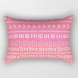 Pink Boho Stripes Rectangular Pillow