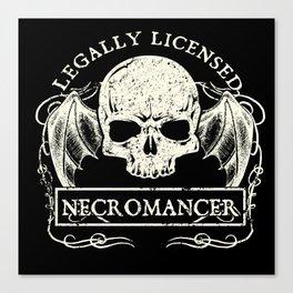 Legally Licensed Necromancer Canvas Print