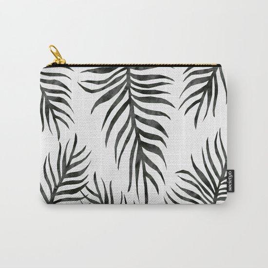 Black Fern Pattern Carry-All Pouch