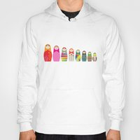 russian Hoodies featuring Russian Dolls by malobi