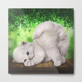 Spoiled Cat Metal Print