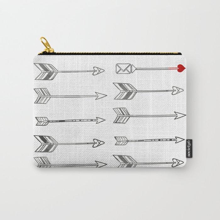 Minimal Love Arrow Carry-All Pouch