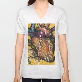 Blossoming Heart Unisex V-Neck