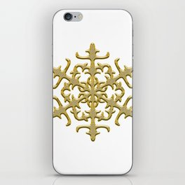 ornament, pattern, decor, gold decor, floral pattern, winter pattern, coldly, jewelry, frosty patter iPhone Skin