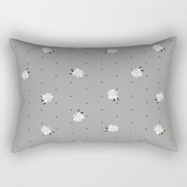 Gardenia pattern grey Rectangular Pillow