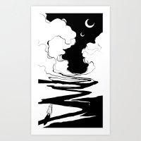 arrakis Art Prints featuring Nomad by Alex Moon
