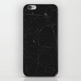 Black distressed marble texture iPhone Skin