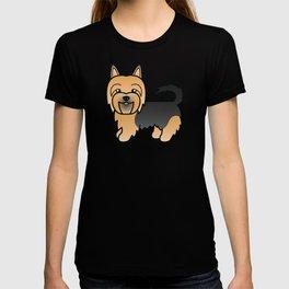 Blue And Tan Australian Terrier Dog Cute Cartoon Illustration T-shirt