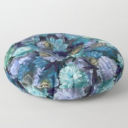 """""""Baroque floral with bugs"""" Floor Pillow"""