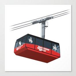 Jackson Hole Cable Car Canvas Print