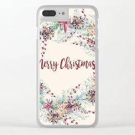 Xmas Wreath II Clear iPhone Case