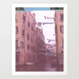 Venezia Glitch Art Print