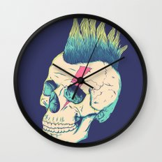 Skull Punk Wall Clock