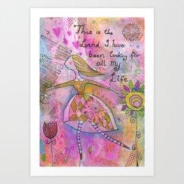 The land of my dreams Art Print