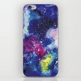 Galaxy Watercolor iPhone Skin