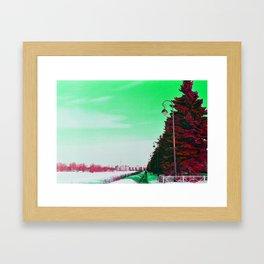 Winter psychedelic 3 Framed Art Print