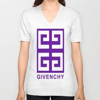 givenchy V-neck T-shirts featuring Givenchy  by I Love Decor