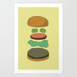 Burger Assembly Art Print