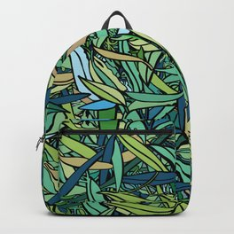 Fallen Eucalyptus Leaves - Forest Green Palette Backpack