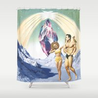 thrones Shower Curtains featuring The wish by Laura Nadeszhda