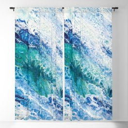 Tides  - Abstract fluid painting Blackout Curtain