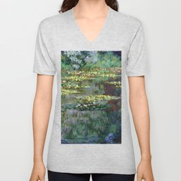 Claude Monet Water Lilies Unisex V-Neck