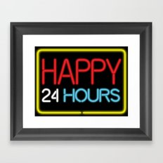 Happy 24 hours Framed Art Print