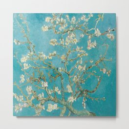 Vincent Van Gogh's Branches of an Almond Tree in Blossom Metal Print