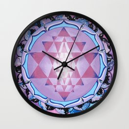 Sri Yantra Wall Clock