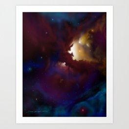 Bat Nebula  Art Print