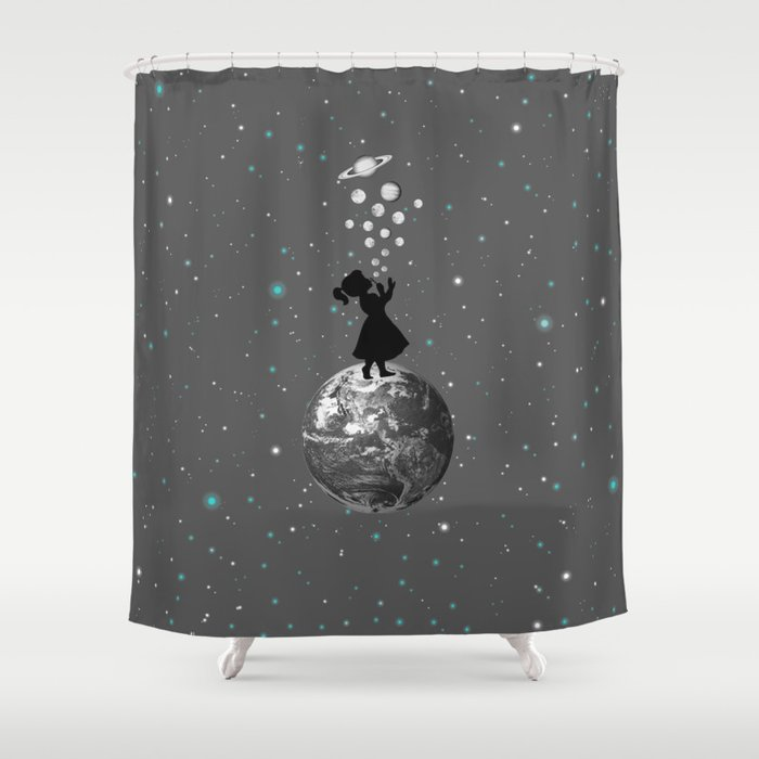 Blow Yourself A Universe Shower Curtain By Maryedenoa