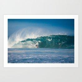 Surfing World Champion Gabriel Medina charging Off The Wall Art Print