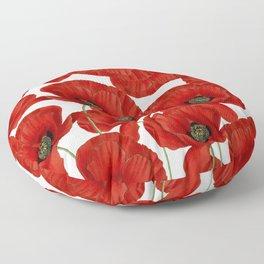 Poppy flower pattern Floor Pillow