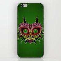 majoras mask iPhone & iPod Skins featuring Sugarskull / Majoras mask /color by tshirtsz