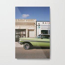 Green Impala on 35mm Metal Print