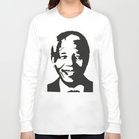 mandela Long Sleeve T-shirts featuring Mandela by b & c