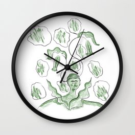 Thinker of Tender Thoughts Wall Clock