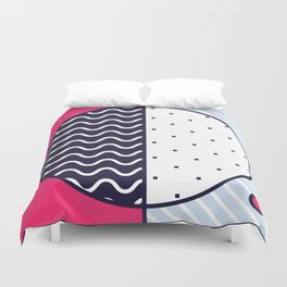 Background in Neo Memphis Style Colorful Decorative pattern Duvet Cover