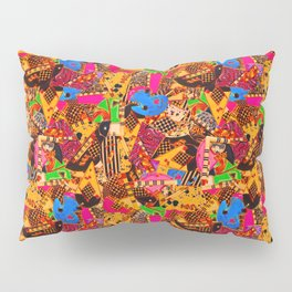 80's Abstract Earring Doodle 4 Pillow Sham