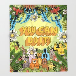 YOU CAN DO IT! Throw Blanket
