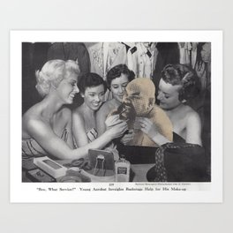 Ox Baker Beauty Bazaar  - Vintage Collage Art Print