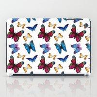 butterflies iPad Cases featuring Butterflies by Katerina Izotova