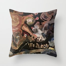 Bruised by Midnight Throw Pillow