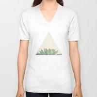 cassia beck V-neck T-shirts featuring Echeveria by Cassia Beck