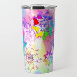 psychedelic corgi Travel Mug
