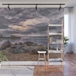 Cloudy beach sunset Wall Mural