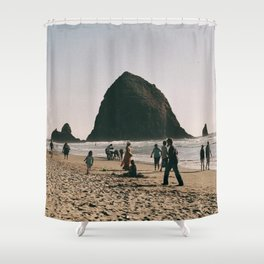Day at Cannon Beach, OR Shower Curtain